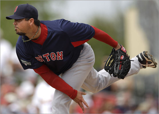 Josh Beckett pitched three scoreless innings and allowed two hits Thursday vs. the Cardinals.