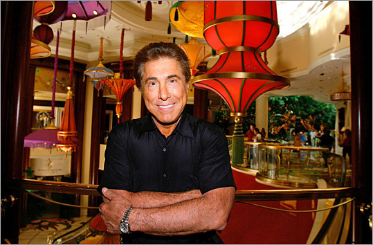 Steve Wynn at a lounge in one of his Las Vegas hotels.