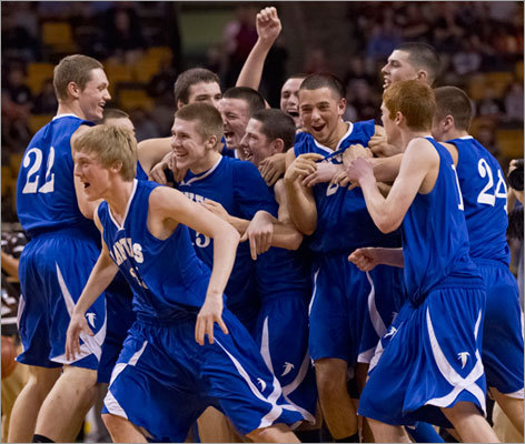 Danvers High players celebrated their victory over Wareham High in the Division 3 semifinals.