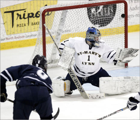 Sam Kurker's second goal gave St. John's Prep a 2-1 lead over St. Mary's in the third period.
