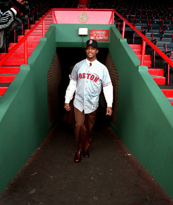 Pedro Martinez got his first look at Fenway Park on Nov. 25, 1997 after being traded from the Montreal Expos to the Red Sox.