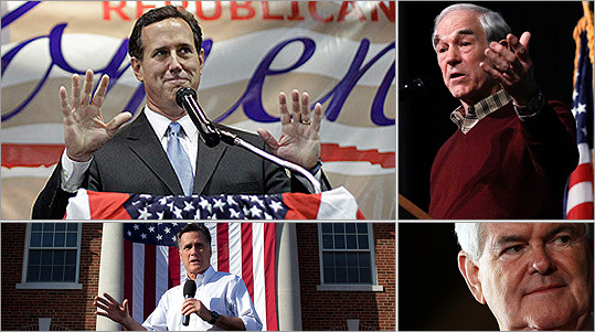 Voters in Missouri will head back to the polls on Saturday for a Republican caucus. The state held a nonbinding primary in February, in which Rick Santorum received 55.2 percent of the vote. Mitt Romney finished second with 25.3 percent. Ron Paul grabbed 12.2 percent, and Newt Gingrich was not on the ballot. Missouri will award its 52 delegates at district conventions in April and state conventions in June . Saturday's caucuses will select delegates to attend each convention. After primaries earlier this week , Romney leads delegate totals with 495 of the needed 1,144 for the Republican nomination. Santorum is the closest competitor at 252.