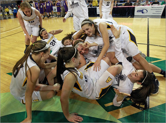 Div. 1 state final: Andover 61, Holyoke 45 The Andover girls basketball team capped a perfect season with its third straight state championship. Six state title games were played Saturday at Worcester's DCU Center. Click through the gallery to see scenes from them all.