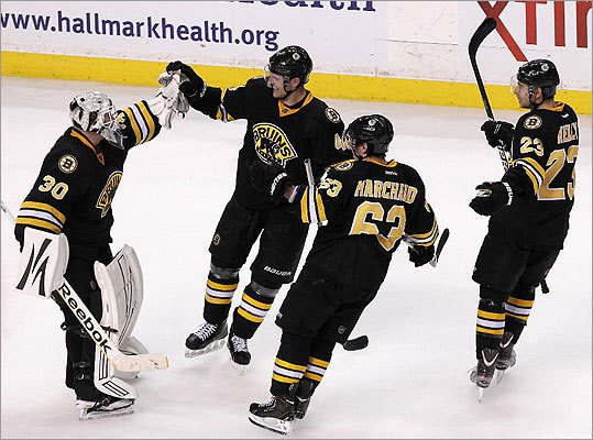 David Krejci (46) and the Bruins proved resilient after taking a 3-2 win in an overtime shootout against the Flyers. The B's nearly let the game slip away after surrendering a 2-0 lead, but were able to hang on.