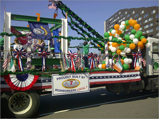 The Local 7 members got their float ready.