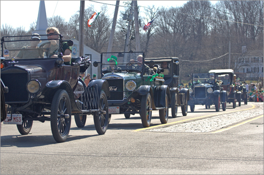 Half a dozen old cars were also in the parade.