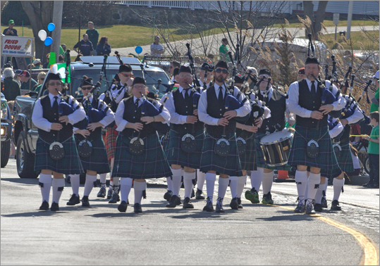 The parade ended with another set of bagpippers, sounding off an Irish medley.