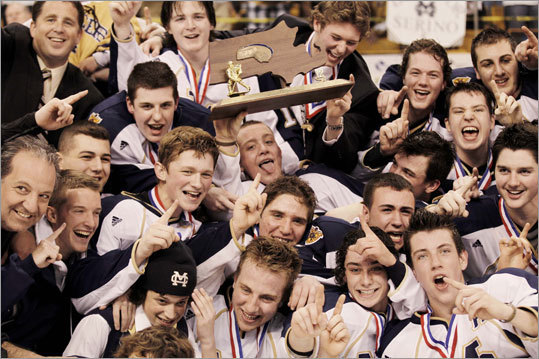 Malden Catholic celebrated its second straight Super 8 hockey championship at TD Garden on Sunday. Malden Catholic defeated BC High to become the third school to repeat as Super 8 champ.