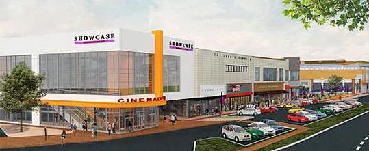 The demolition of the former Macy's building at the Chestnut Hill Shopping Center is now complete. The venue will be converted into a high-end movie theater, health and fitness complex, and a restaurant, and is set to be completed in 2013.