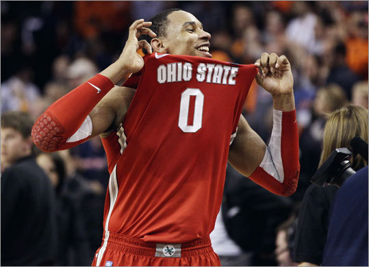 Jared Sullinger scored 19 points to lead Ohio State. The Buckeyes, seeded second, will face Kansas or North Carolina in the Final Four in New Orleans.