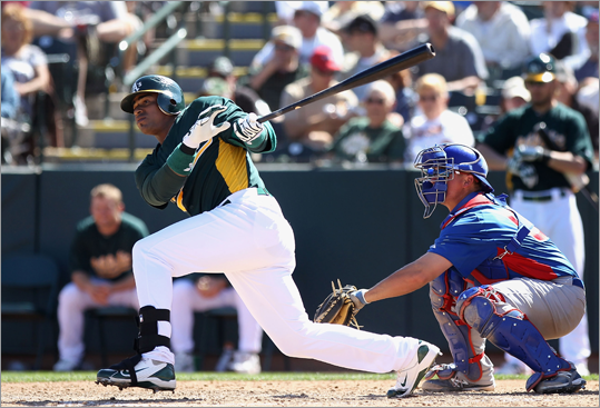 13. Athletics Last year: 74-88 They'll win if: Yoenis Cespedes (pictured) is in the running for rookie of the year. The Cuban 26-year-old could be Oakland's top hitter in 2012. They'll lose if: their pitchers can't contain the Rangers' and Angels' powerful lineups.