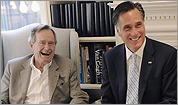 George H. W. Bush will formally endorse Romney for president