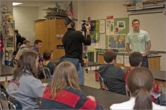 Ference is also participating in National Geographic's web series 'Beyond the Puck', which follows the player around as he shows off his green lifestyle. A cameraman captured Ference explaining his lifestyle to students on Wednesday, where he said he finds time to be green during the season, and takes summers to make connections with green companies and learn more about eco-living.