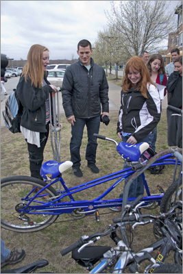 Ference also met with students who ride their bikes to school. His presence on the school campus was electric, and much appreciated by school staff. 'It's admirable to see a professional athlete to be so vocal about a cause,' Assistant Principal Rick Swanson said.