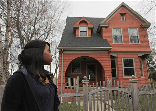 Local playwright Kirsten Greenidge looked at a home on 56 Claremont Avenue in Arlington, which, for decades, belonged to her grandparents.