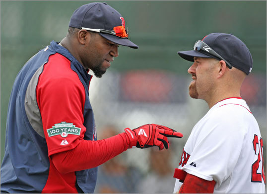 6. David Ortiz and Kevin Youkilis will combine for fewer than 50 homers. In 2009, Ortiz and Youkilis had 55 homers between them. Two years ago, 51. Last year? 46. Notice a trend? Ortiz has held up his end of the bargain, hitting 32 in 2010 and 29 last year, but Youkilis's durability issues have resulted in a power reduction -- he hit 19 homers two years ago, and 17 last year. Even if Youkilis does stay healthy this year and return to the 25-homer range, it's not a guarantee that Ortiz, who turns 37 in November, will continue to hover around the 30-homer mark. Let's put 'em down for 46 again.