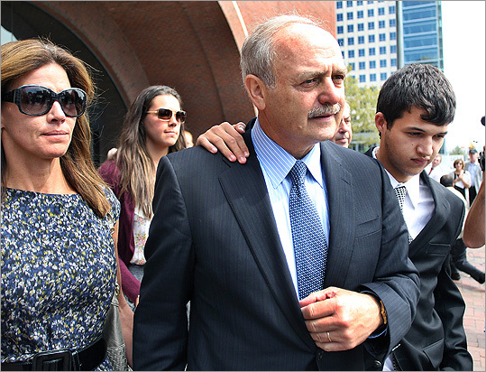 Former Massachusetts House speaker Salvatore F. DiMasi and two associates faced federal public corruption charges, accused of using the power of the speaker's office to steer multimillion-dollar contracts to a software company in exchange for hundreds of thousands of dollars in kickbacks. DiMasi was found guilty. On Nov. 28, 2011, DiMasi began his eight year prison sentence in a federal prison in Kentucky.