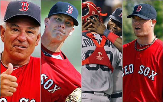 Let's see. There has been a debate over who should claim the starting shortstop role. A half-dozen candidates were in contention for the fourth and fifth starter spots. Two key pitchers have suffered thumb injuries. And new manager Bobby Valentine has proven a lightning rod. Just imagine what will happen when the 2012 Red Sox play a game that actually counts. Come to think of it, Boston.com and the Globe's Chad Finn already have. Here are his 10 predictions for the new season.