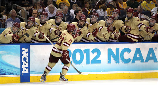 Whitney was one of five Boston College players to score. He also had an assist.