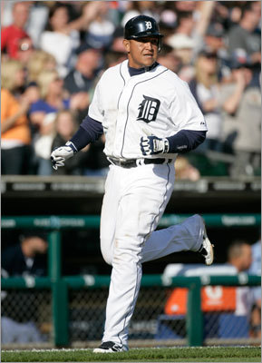 Detroit's Miguel Cabrera also hit two home runs on Saturday as the Tigers got to Josh Beckett.