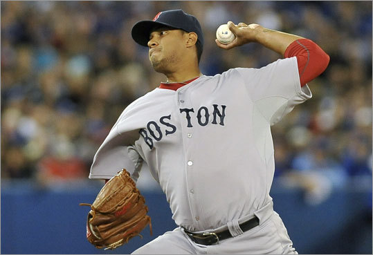 Felix Doubront made his first start of the season for the Red Sox and allowed four hits, two runs and struck out six in five innings.
