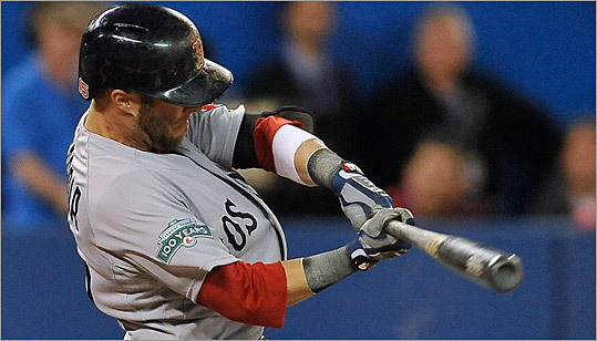 Dustin Pedroia had a home run, a double, and scored the tying run in the ninth inning as the Red Sox came from behind.