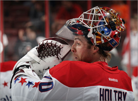 1. They have a rookie goalie The Capitals will have 22-year-old Braden Holtby in goal for Game 1. That can either be an advantage or a disadvantage for Washington. Holtby has made 21 career NHL appearances and has never appeared in an NHL playoff game. Either he'll freeze in the headlights and cost his team a game or two, or he'll seize the moment, forget what kind of pressure there is, and steal one from the favored B's.