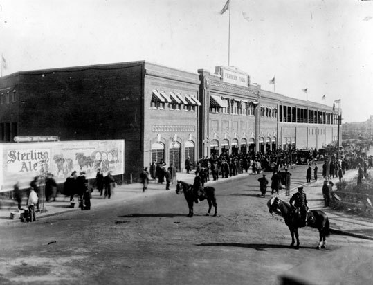 1912: First game at Fenway Park With the park still being finished, the Sox and Harvard played an exhibition game April 9, in front of a few thousand fans in wintry weather. Boston's Casey Hageman threw the first pitch to Crimson captain Dana Wingate, and the Sox won, 2-0.