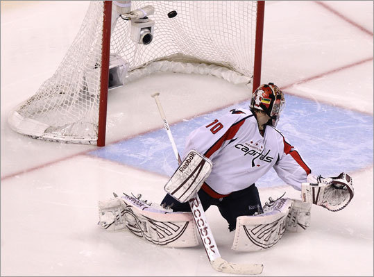 Capitals goalie Braden Holtby, playing because of injuries to Washington's top two goalies, was solid and had a shutout through three periods, but was not able to stop Chris Kelly's game-winner in overtime. Holtby made 29 saves.