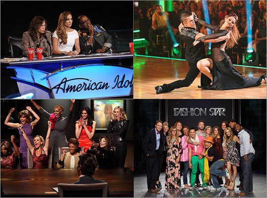 American Idol, Dancing With the Stars, Fashion Star, The Celebrity Apprentice