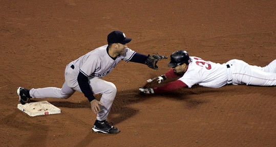 2004: Roberts's steal On the verge of getting swept out of the ALCS and trailing the Yankees, 4-3, in the ninth inning of Game 4, Kevin Millar drew a leadoff walk against Mariano Rivera. Enter Dave Roberts to do what he did best. His headfirst slide barely beat the throw to second, and Bill Mueller followed with the tying single. The Red Sox wound up winning it on David Ortiz's two-run walkoff blast in the 12th inning.
