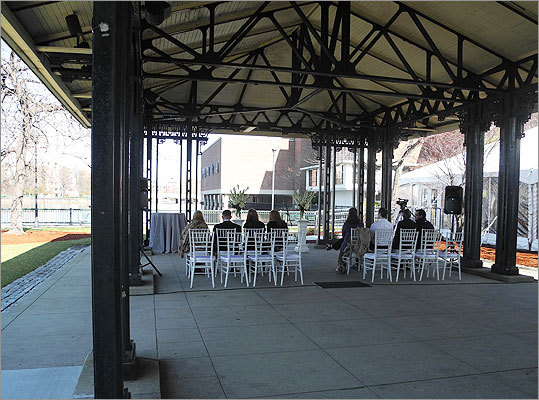 Ceremonies were held at the museum's riverfront Washburn Pavilion.