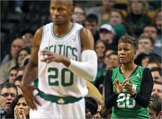 Flo Allen-Hopson, mother of Celtics star Ray Allen, will run her third Boston Marathon. She is captain of Team Joslin, which benefits the Joslin Diabetes Center. Allen-Hopson's grandson, Walker, has Type 1 diabetes.