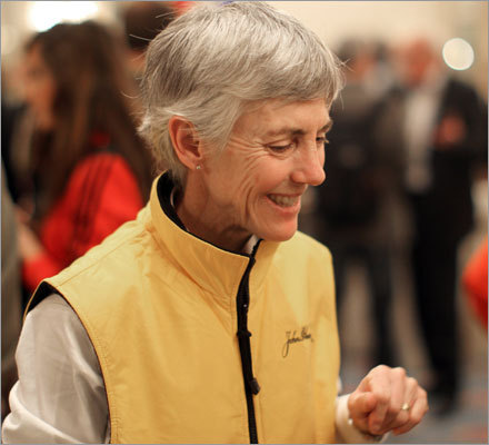 Marathon legend Joan Samuelson, who won the Boston Marathon in 1979 and 1983, was planning to run in Monday's event and made appearances at the press conferences held last week.