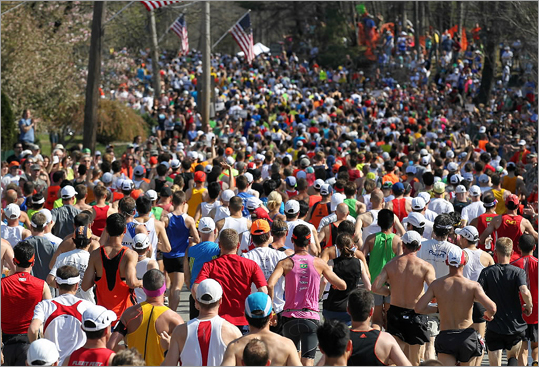 The 116th Boston Marathon kicked off Monday, April 16, in Hopkinton. Runners faced high temperatures as they raced the 26.2 miles to Copley Square.