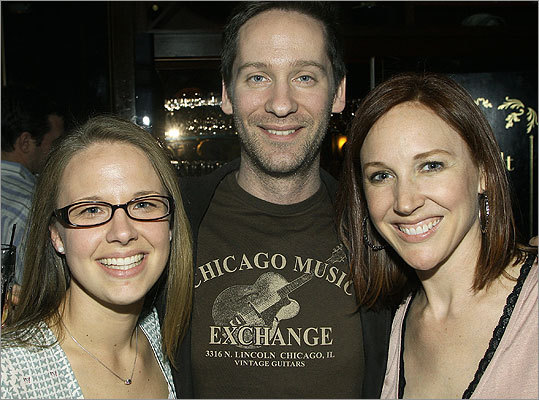 April 14 in Boston From left: Liza Gorman of South Boston, with Joe and Stacy Farrell of Brookline.