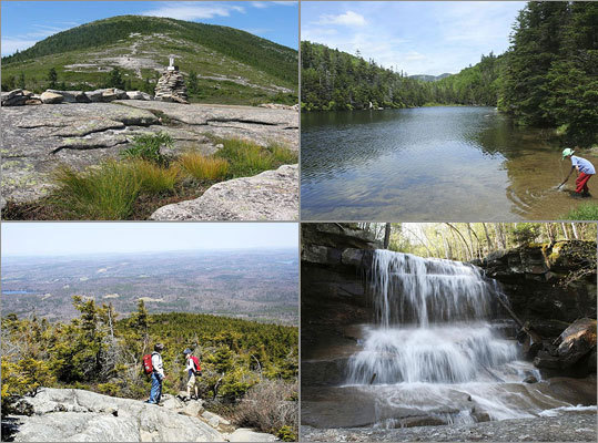 Spring is a great time to hike through New Hampshire's natural wonders. Here are 10 hikes through some of the state's most popular trails, showcasing the highlights of the season from blooming wildflowers to rushing waterfalls.