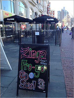 Zinga! While there are plenty of places to grab a drink in Kenmore Square, a sweet addition late last year offers something different. Zinga! Frozen Yogurt held its grand opening in Kenmore Square earlier this year and the franchise is planning a second Massachusetts location in Saugus.