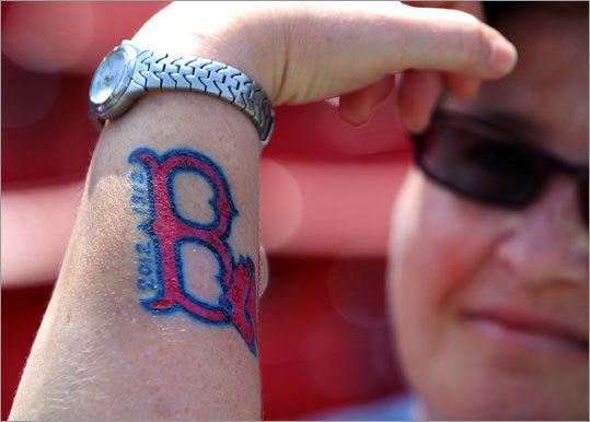 Heather Loveland from San Diego, Cali., showed off the tattoo she got last night.