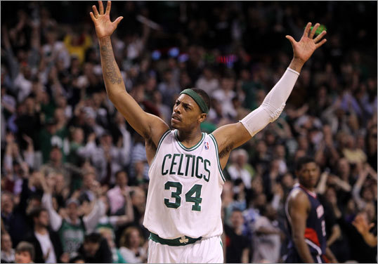4. Pierce needs to score Back in 2008, Paul Pierce was the Celtics' best player. Kevin Garnett got the defensive accolades, but it was Pierce who effectively guarded LeBron James and Kobe Bryant and walked away with Finals MVP. Those defensive expectations may be unrealistic now (though Pierce is still an underrated defender), but the Celtics still need him to be a scorer. If the Hawks are going to buckle down on defense, the Celtics need someone who can break the game down one-on-one. With Ray Allen slowed by injury, Pierce's scoring will be crucial.