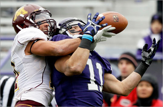 Jeremy Ebert Position: Wide receiver School: Northwestern Drafted: Round 7, 235th overall A 6-foot, 195-pounder from Hilliard, Ohio, he was a high school quarterback. Ebert set career highs with 75 receptions for 1,060 yards and 11 touchdowns for Northwestern as a senior. He was on the preseason watch list for the Biletnikoff Award, and had a 208-yard game against Rice.