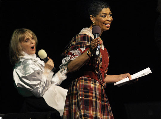 April 27 in Boston From left: Barbara Lee and Carol Fulp acted in the 'Downtown Crossing Abbey' skit.