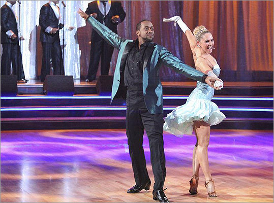 Actor Jaleel White was eliminated after losing the show's 'final dance duel' to fellow competitor Roshon Fegan . Read the story (AP)