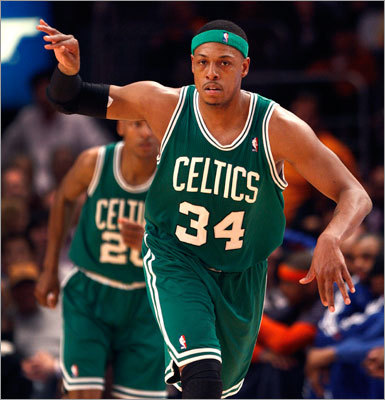 Paul Pierce, Game 3, 2011 first round vs. Knicks The series was supposed to be about Paul Pierce vs. Carmelo Anthony, and about New York's stars overtaking Boston's aging Big Three. Not so fast. Pierce scored 38 points in Game 3 of a series that the Celtics swept. He made an incredible 14 of 19 field goals.