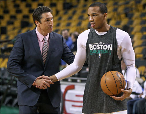 Dr. Brian McKeon, the Celtics' chief medical officer and team physician, shook hands with Celtics guard Avery Bradley, who was on the court shooting about an hour and a half before the game testing his injured shoulder.