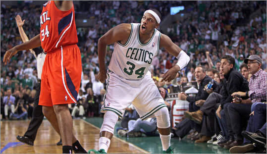 Pierce finished with 24 points in 17 minutes of action in Game 4.
