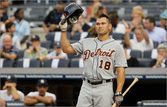 Aug. 16, 2010 Damon spent the 2010 season with the Tigers, and he played 145 games for Detroit. He batted .271 with eight home runs, 51 RBIs and 11 stolen bases. He had a chance to return to the Red Sox when he was claimed on waivers, but he refused to waive his no-trade clause in his contract.