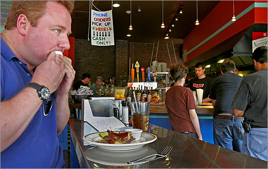All Star Sandwich Bar What's that? You've never tried poutine? All Star Sandwich Bar dishes out the guilty pleasure from north of the border. That's fries topped with gravy and cheese curds, for the uninitiated. Oh, mon dieu! Pictured: Bill Brady of Haverhill enjoyed a beef on weck at All Star Sandwich Bar in 2006.