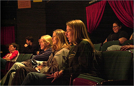 Improv at Inman The improvisational troupe The Proposition practiced at Inman Square. Notable alums include Josh Mostel and Jane Curtin. ImprovBoston was located at Inman Square until only recently moving to a new space by Central Square. Pictured: Audience members enjoyed a show, ' Red Herrings' at Improv Boston in 2002.