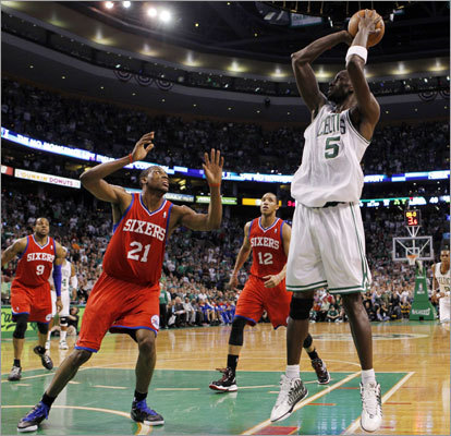 It was a fast turnaround for Kevin Garnett and the Celtics, who opened their second-round NBA playoff series against Andre Iguodala and the 76ers only two days after closing out the Hawks in the first round. Game 1 was played at TD Garden on Saturday night.